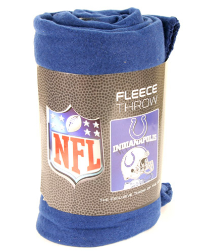 Indianapolis Colts Mirrored Fleece Blanket