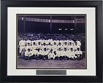1927 Yankee Team Unsigned Black and White Photo Framed