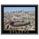 "Atlanta Braves Turner Field Stadium Poster Print Framed 8""x10"""