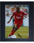 Ryan Babel Matted Autographed 8x10 with Liverpool FC.