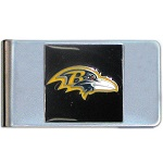 Baltimore Ravens Stainless Steel Money Clip