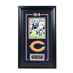 Brian Urlacher Autographed 8x10 Framed Action Shot
