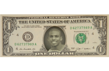 "Chris Paul ""CP3"" Famous Face Dollar Bill"