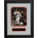 Dustin Pedroia Autographed 8x10 Framed
