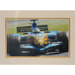 Giancarlo Fisichella Autographed 8x10 Matted