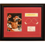 George Foreman Autographed Cut with 8x10 Framed PSA/DNA Authenticity