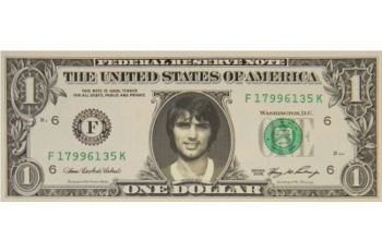 George Best Famous Face Dollar Bill