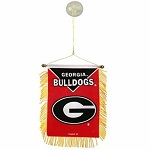 Georgia Bulldogs Mini Banner With Suction Cup