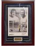Gordan Banks and Pele Dual Autographed 16x20 Lithograph Framed