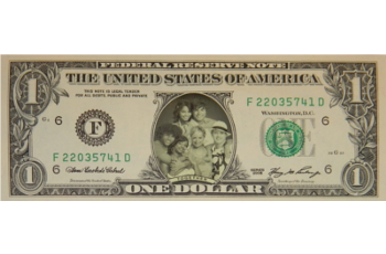 High School Musical Cast Famous Face Dollar Bill - Together