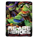 "Nickelodeon TMNT ""We Are Heroes"" 46-inch by 60-inch Micro Raschel Throw"