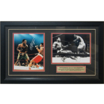Joe Frazier Autographed 8x10 Vs Muhammad Framed
