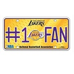 "Los Angeles Lakers ""#1 Fan"" License Plate"