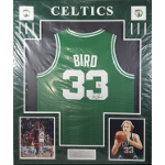 Larry Bird Autographed Jersey Matted Ready to Framed