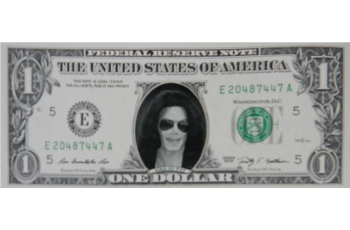 Michael Jackson Famous Face Dollar Bill - Old