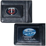 Minnesota Twins Leather Cash & Cardholder