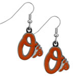 Baltimore Orioles Dangle Earrings - Chrome