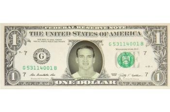 Peyton Manning Famous Face Dollar Bill - Pony Express