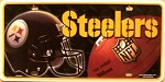Pittsburgh Steelers Embossed Metal Novelty License Plate Tag Sign