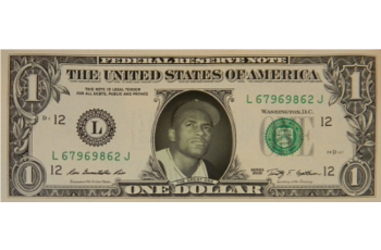 Roberto Clemente Famous Face Dollar Bill