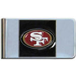 San Francisco 49ers Stainless Steel Money Clip - Black