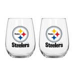 Pittsburgh Steelers 16 Oz. Curved Beverage Glass