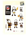 Pittsburgh Steelers Family Car Decal - Small