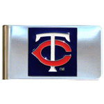 Minnesota Twins Stainless Steel Money Clip