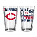 Minnesota Twins 16 Oz. Spirit Pint Glasses