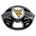 W. Virginia Mountaineers Tailgater Belt Buckle