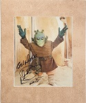 Warwick Davis as Wald in Star Wars Autographed 8x10 Matted