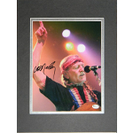 Willie Nelson Autographed 8x10""