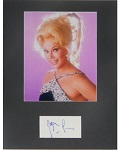 Zsa Zsa Gabor Autographed Cut with 8x10